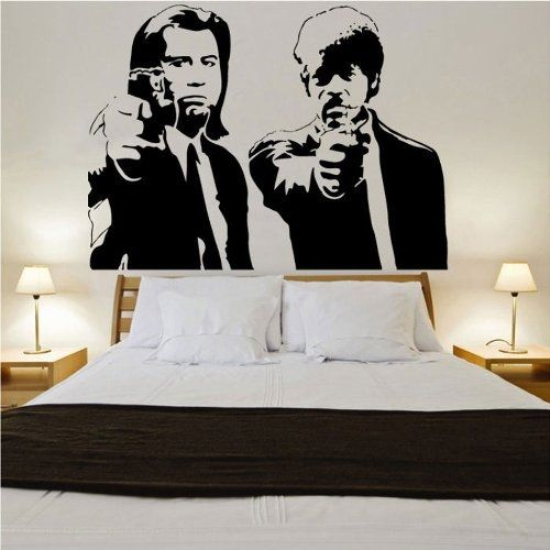 A004 Banksy Pulp Fiction Wall Sticker for home decor Vinyl wall Decal home decoration
