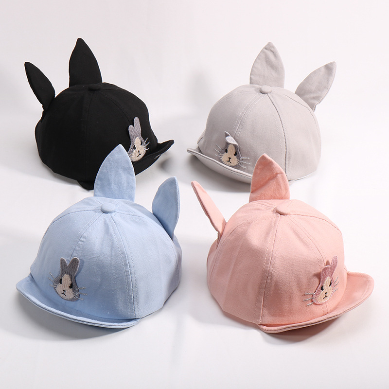 92933826a8d6d Disney Spring And Autumn Baby Cap Cartoon Rabbit Ear Baby Peaked Cap Boy  and Girl Baby Summer Sun Hat 1 2 Soft Edge Baseball Hat-in Hats   Caps from  Mother ...