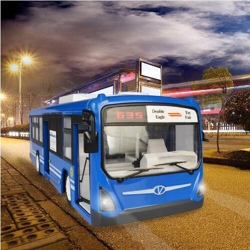 Bus RC 6 canaux 2.4G télécommande voiture ville Express haute vitesse une clé fonction de démarrage Bus avec son et lumière réalistes