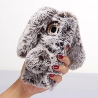 3D Rabbit Bunny Toy Case Artificial Cony Hair TPU Cover For Samsung Galaxy S3 S4 S5