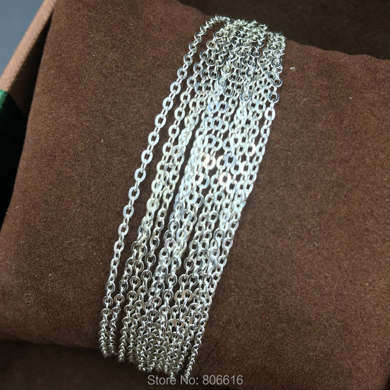 Fake One Penalty Ten  1.5MM/W (6g=2M) 925 Sterling Silver Chains Jewelry Accessories Findings