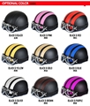 Hot 2016 Vespa scooter motorcycle leather half-open complex Guha Lei motorcycle helmets and goggles and sunglasses