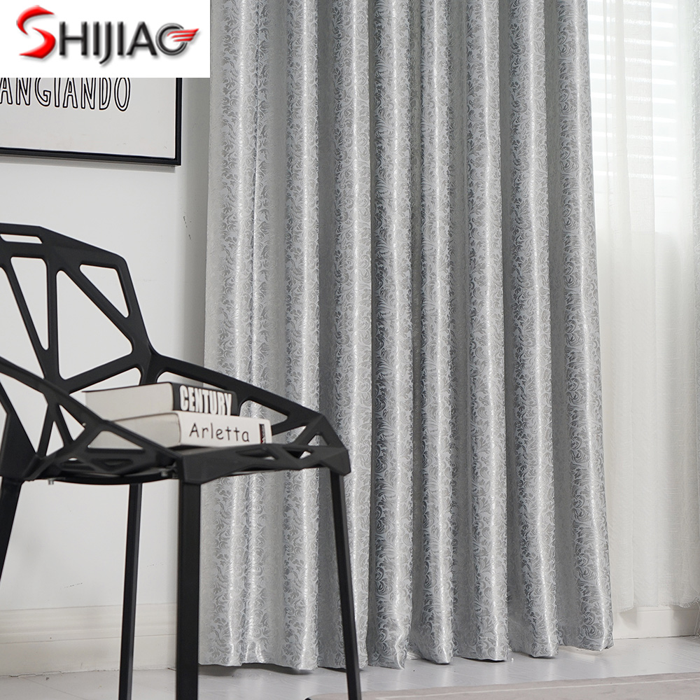 European Jacquard curtains for living room Modern blackout curtains for bedroom Luxury new curtains for windows drapes