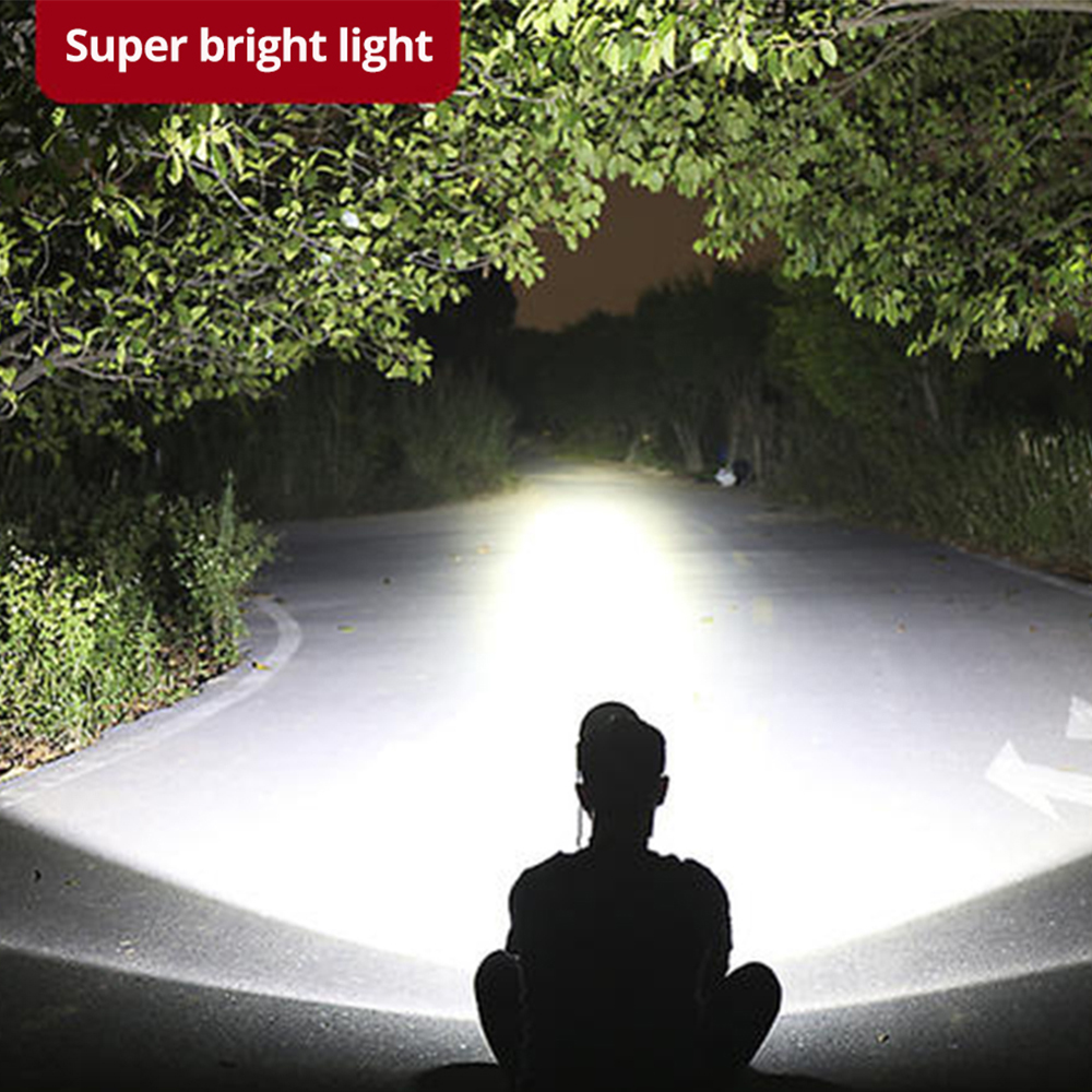 Image 5 - Camouflage Led Headlamp T6 waterproof LED Headlight led Head Lamp Lantern Lamp Camping Hiking Fishing Light use 18650 battery-in Headlamps from Lights & Lighting
