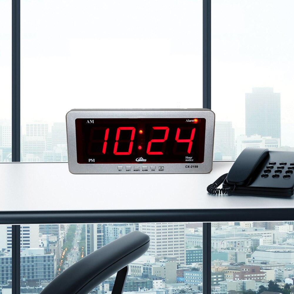 Rəqəmsal LED Siqnal Saatı Böyük Rəngli Masa Saatları Elektron - Ev dekoru - Fotoqrafiya 5