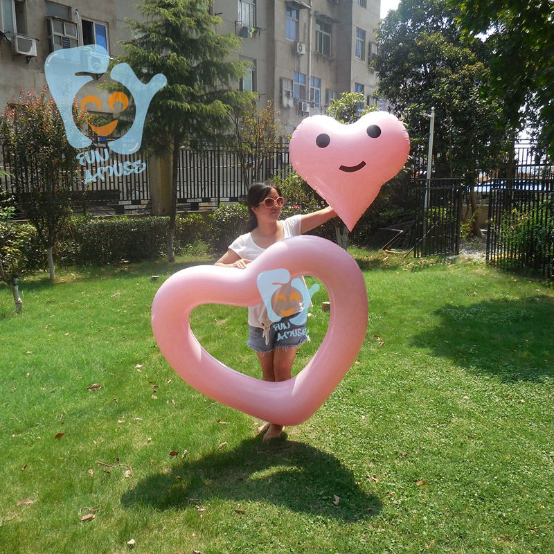 I Love You Heart Ring Pool Float Swimming Floating Raft Water Fun Toy Wedding Decoration Proposing Gift Vanlentine Day gift