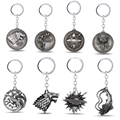 Game Of Thrones Keychain do Metal Chaveiro Chave Pingente Anel Para Homens Mulheres Porte clave chave titular