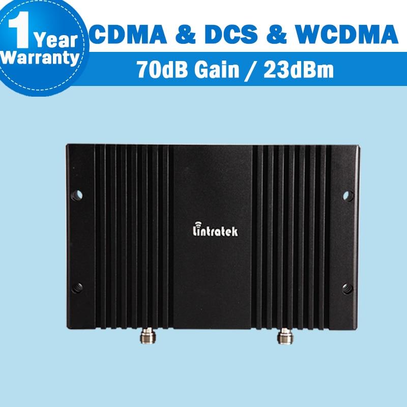 Lintratek CDMA 850 + DCS 1800 + WCDMA 2100 2G/3G/4G Tri bande 70dB amplificateur de Signal de téléphone fonction MGC/AGC à Gain élevé S31