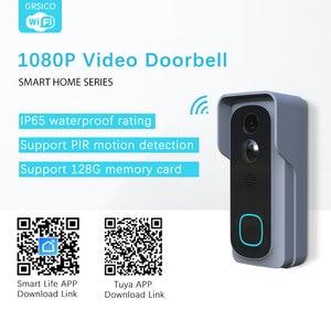 Image 2 - WiFi Akıllı Video Kapı Zili Kamera Ev Güvenlik Monitör Gece Görüş Video Interkom SmartLife APP Kumanda Üzerinden iOS Android Telefon