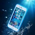 Kisscase para iphone 6 s plus clear case para iphone 6 à prova d' água 6 s Plus Ultra Slim Casos de Telefone Toque Inteligente Capa À Prova de Choque