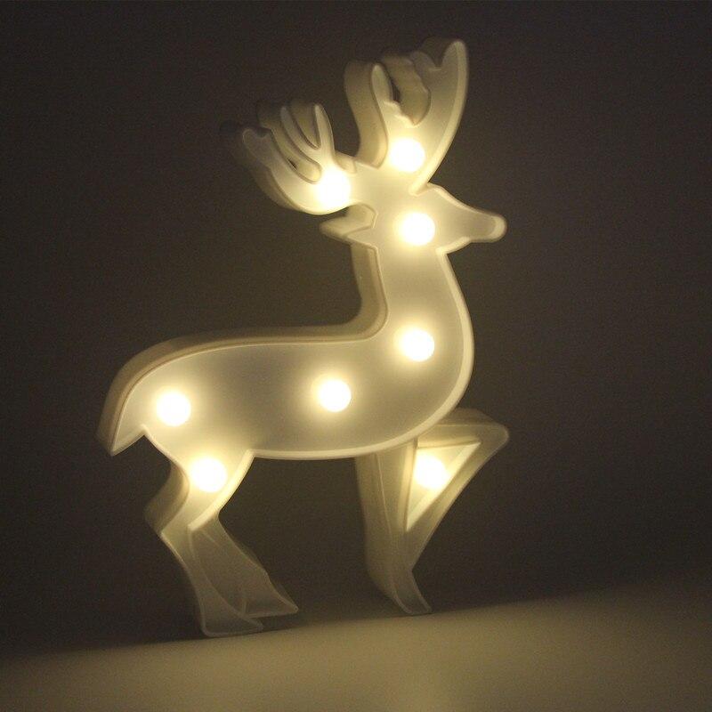 Мини-олень светодиодный 3D шатер ночник атмосфера освещения творческие подарки для детей декоративные Спальня Настольная Лампа Рождествен...