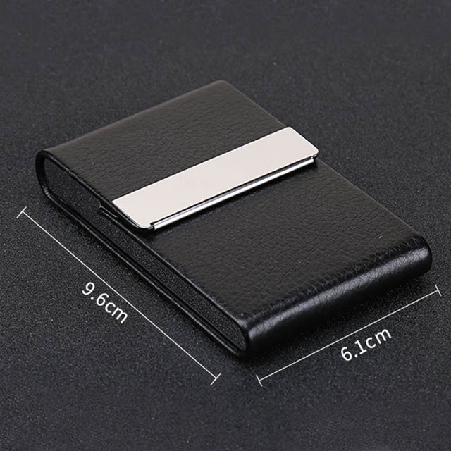 Smoking Accessories Cigarette Case 1 PC Cigar Storage Box Stainless Steel  Multifunction Card Cases PU Tobacco Holder