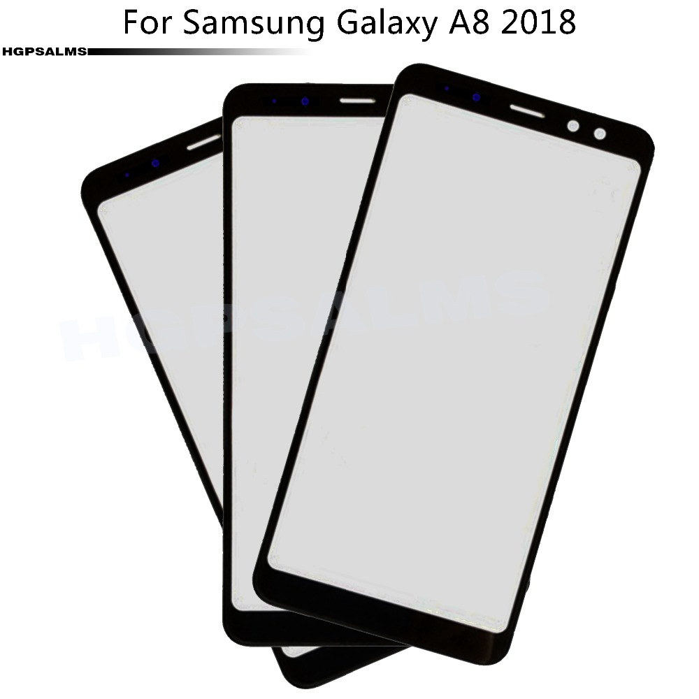 For Samsung Galaxy A8 2018 A830 Front Screen Outer Glass Lens Touch Screen Outer Cover Panel Lens