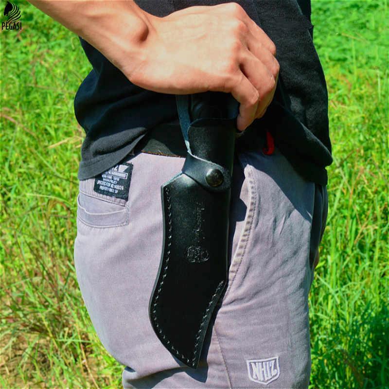 PEGASI 5Cr13mov bıçak 58HRC gölge ahşap saplı avcılık sabit bıçak bıçak açık kamp aracı survival taktik bıçaklar