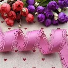 Новый продукт 30 мм пурпурный кружева мультфильм лента 10 ярдов ручной работы материал обечайки DIY декоративная подарочная упаковка полушерстяной лентой
