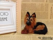 mini simulation dog toy lifelike small lying dog doll gift about 13x8x9cm