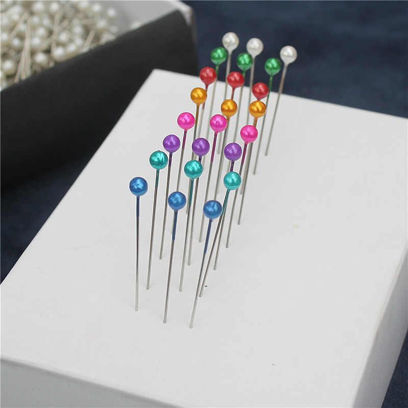 750 PCS/BOX colorful offic Standar pin DIY jarum Manik pin dekorasi bola kepala pins gratis pengiriman