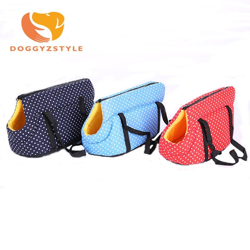 Outdoor Dog Bags Travel Pet Oxford Cloth Sponge Colorful Cat Carrier Bags Colorful Handbag S/M Size Easy Carry Pet Bag