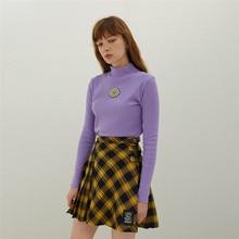 spring tunic women t shirt long sleeve turtleneck Elastic tee 2019 new Korean fashion slim girls vintage Top Embroidered vogue недорого