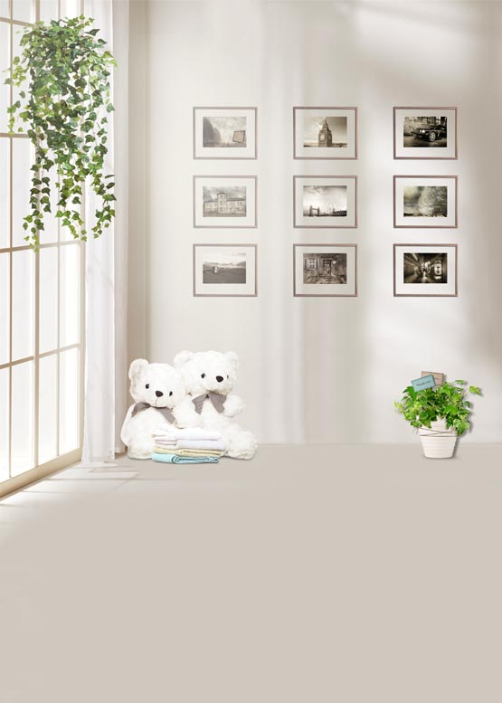 Picture frame on the wall photography background vinyl print cloth backdrops for family photo studio photographic props S-896  сайдинг vinyl on 3660х230 мм серо голубой