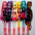 Lindo hermoso caballo mlp Nightmare moon Luna Rainbow Dash figuras de acción muñecas juguetes para Niños