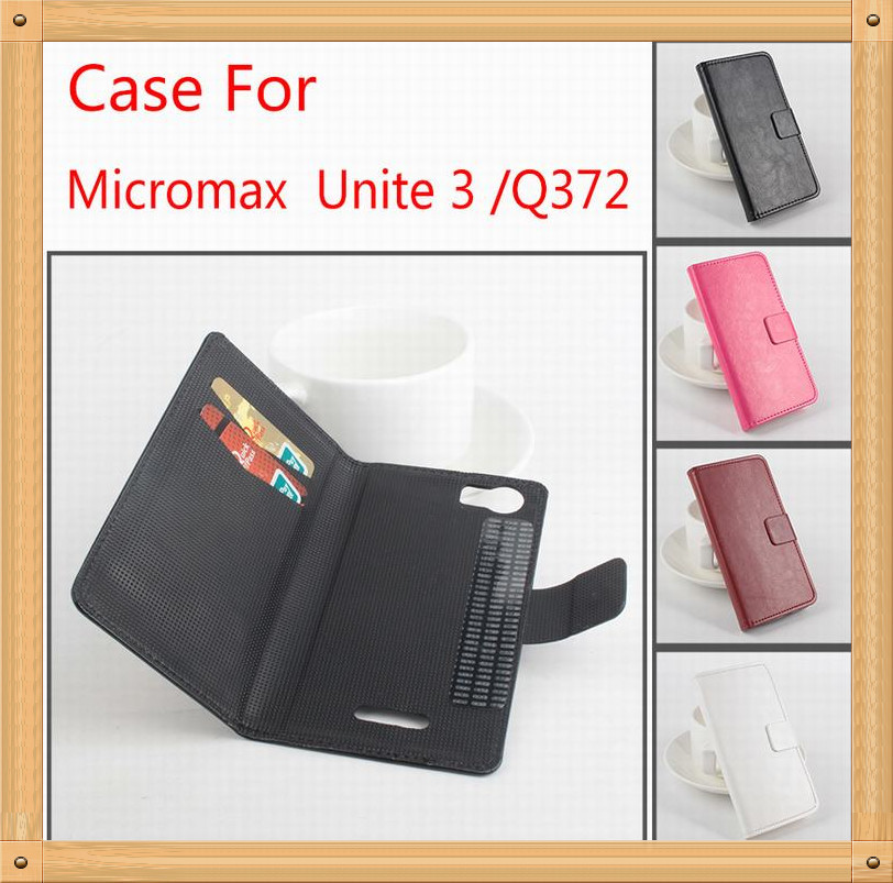 half off 8de91 0d8db US $9.99 |High Quality Leather Case For Micromax Unite 3 / Q372 Flip Cover  Case With Card Slot for Micromax Unite3 Cover Case Phone Cases on ...