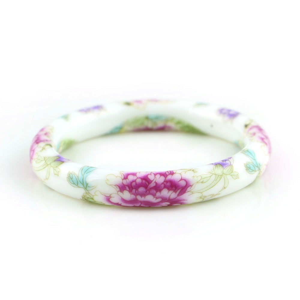 Novi modni dizajn vintage cvijet keramika narukvice kineski - Modni nakit - Foto 5
