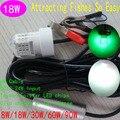 20pcs/lot DC12 To 24V 18W Sea Fishing Green LED Lure Night Fising Underwater LED Squid Fishing Lights White