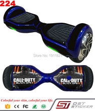 Black OPS 3 Skin Self E Balance Scooter Hoverboard 6.5 Inch Two Wheel Electric Scooter Hover Boards Decorative Decal Sticker