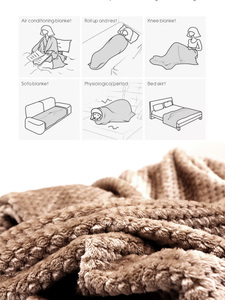 Image 5 - CAMMITEVER Super Soft Blanket Flannel Aircraft Sofa Use Office Children Blanket Towel Travel Fleece Mesh Portable Car Travel