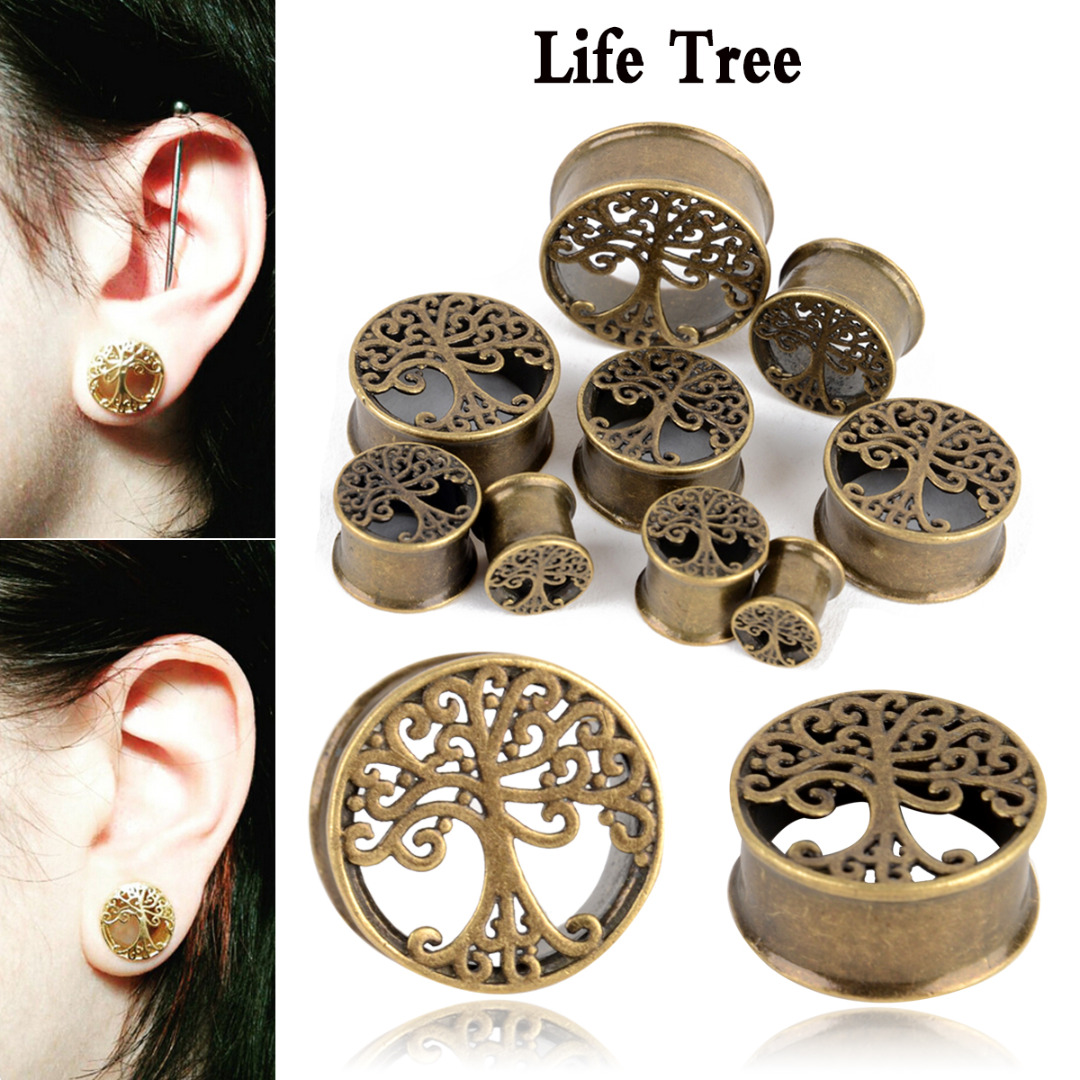 Jewelry & Accessories Creative 2pcs New Arrival Ear Plugs Tunnels Sexy Body Jewelry Stainless Steel Gold Hollow Flower Shell Fashion Piercing Ear Expansions