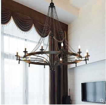 L Treppe Lampe Lange Kronleuchter Amerikanischen Duplex Gebäude Wohnzimmer Atmosphäre Villa Gebäude Mittleren Boden Lobby Kronleuchter