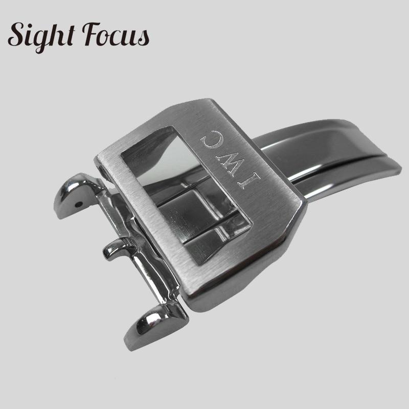 69f73e6b65f Comprar Aço Inoxidável Fecho De Implantação 18mm Faixa Relógio Couro ...