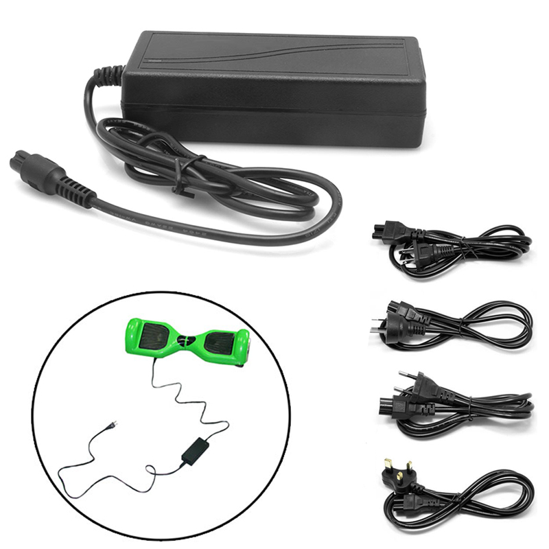 1Pc 42V 2A AC DC Power Adapter Battery Charger For Smart Balance Scooter Wheel US/UK/EU/AU Plug