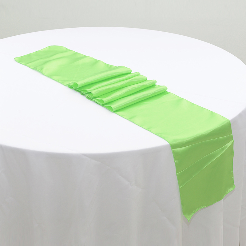 1pc High Quality Light Green Polyester Table Runner Cloth Wedding Banquet Decoration Festive Party Supplies H4306f10 In Runners From Home
