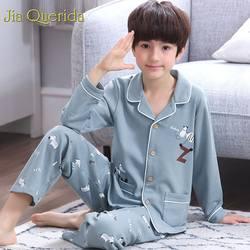 J & Q pijama infantil 2019 Весенняя Новинка модная пижама Дети 100% хлопок детские пижамы высокое качество Детская домашняя одежда Coton ночное белье