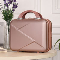 High Quality Fashion Light Suitcase 14 Inches Mini Zipper Lady Business ABS Cosmetic Bag Suitcase for Makeup Bags Toiletry Bag