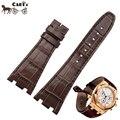 Carty calf leather assista bracelete 27mm pulseiras de relógio ap