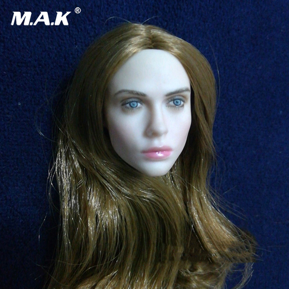 1:6 Scale Villa Coffee Hair Pale Head Model For 12 Female Figure Body for collection action figure accessories for 1/6 body 1:6 Scale Villa Coffee Hair Pale Head Model For 12 Female Figure Body for collection action figure accessories for 1/6 body