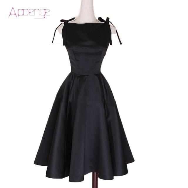 Apoenge 50 Jahre 60 Jahre Party Kleid Neue Audrey Hepburn Stil Balck