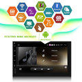 "7 ""Android 5.1 Quad core 1.6 GHz ROM 16G HD 1024*600 Tela 2 DIN carro DVD GPS Radio Stereo Player com 3G WIFI Câmera Traseira USB"