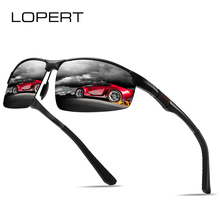 LOPERT Polarized Sunglasses Mens Aluminum Magnesium Sun Glasses Driving Brand designer Goggle Shades For Men UV400