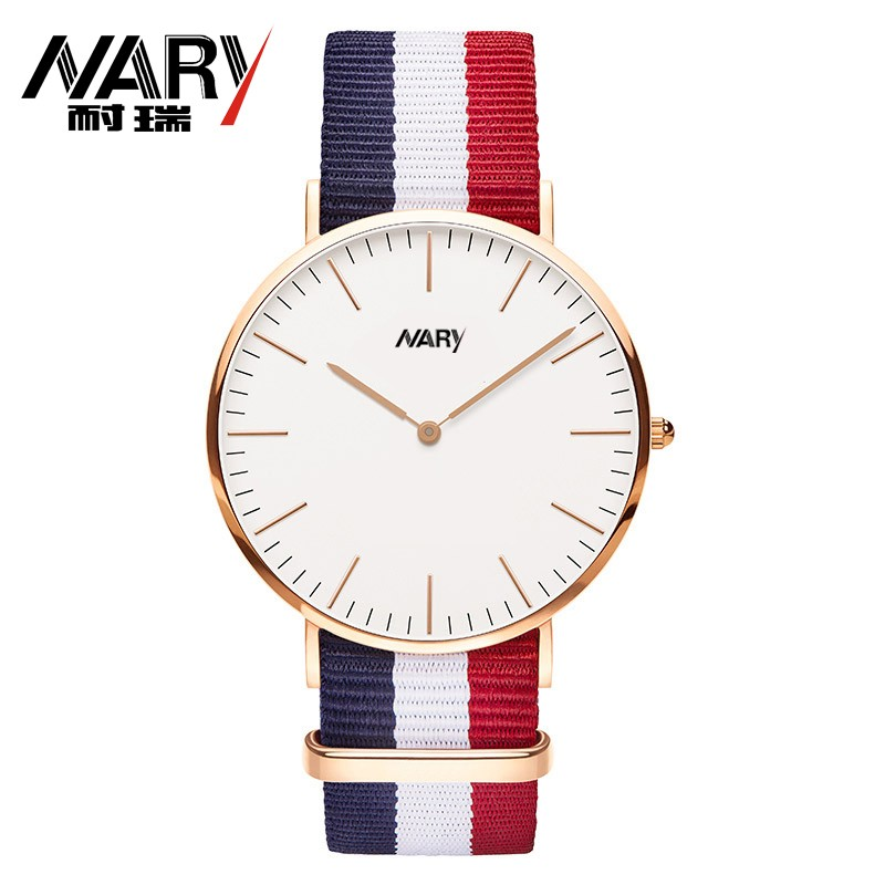 Nary Nylon Strap Women Watch Ladies Casual Fabric Female Quartz Watches Super Thin Simple Sport Style