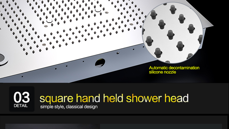 Luxury Led Rain Shower Head Large Rain LED Shower Set with Waterfall Shower Head with Embedded Ceiling 600x800 Rainfall Spout (37)