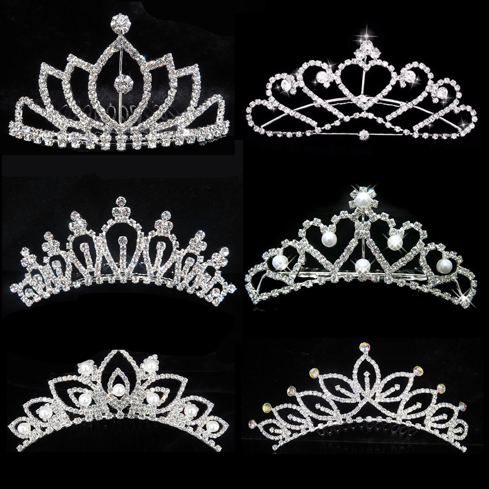 New Arrivals Wedding Rhinestone Tiaras Crowns Female Girls Hair Comb Heart  Bridal Bridesmaids Tiaras Hair Accessories Jewelry-in Hair Jewelry from  Jewelry ... 99ec5802292d
