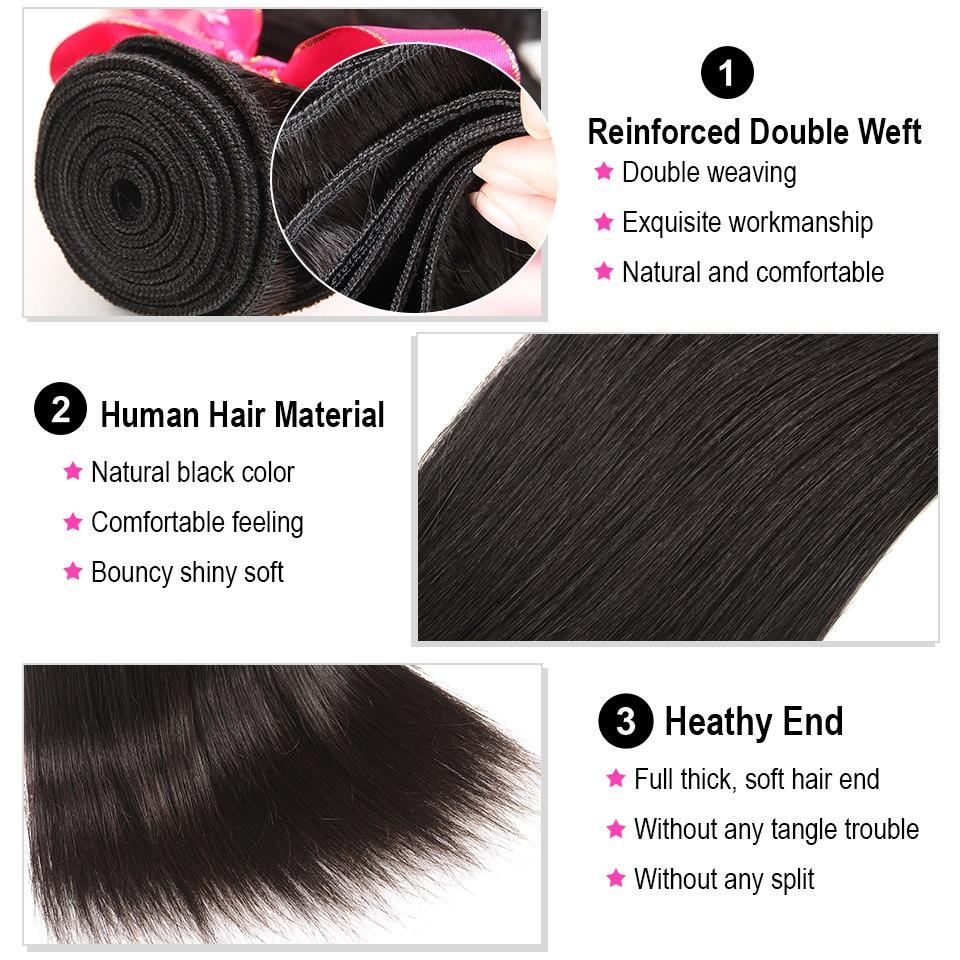HTB1aUhglvImBKNjSZFlq6A43FXaA AliPearl Hair Straight Human Hair 3 Bundles With 5x5 Closure Brazilian Hair Weave Bundles Natural Color Remy Hair Extension