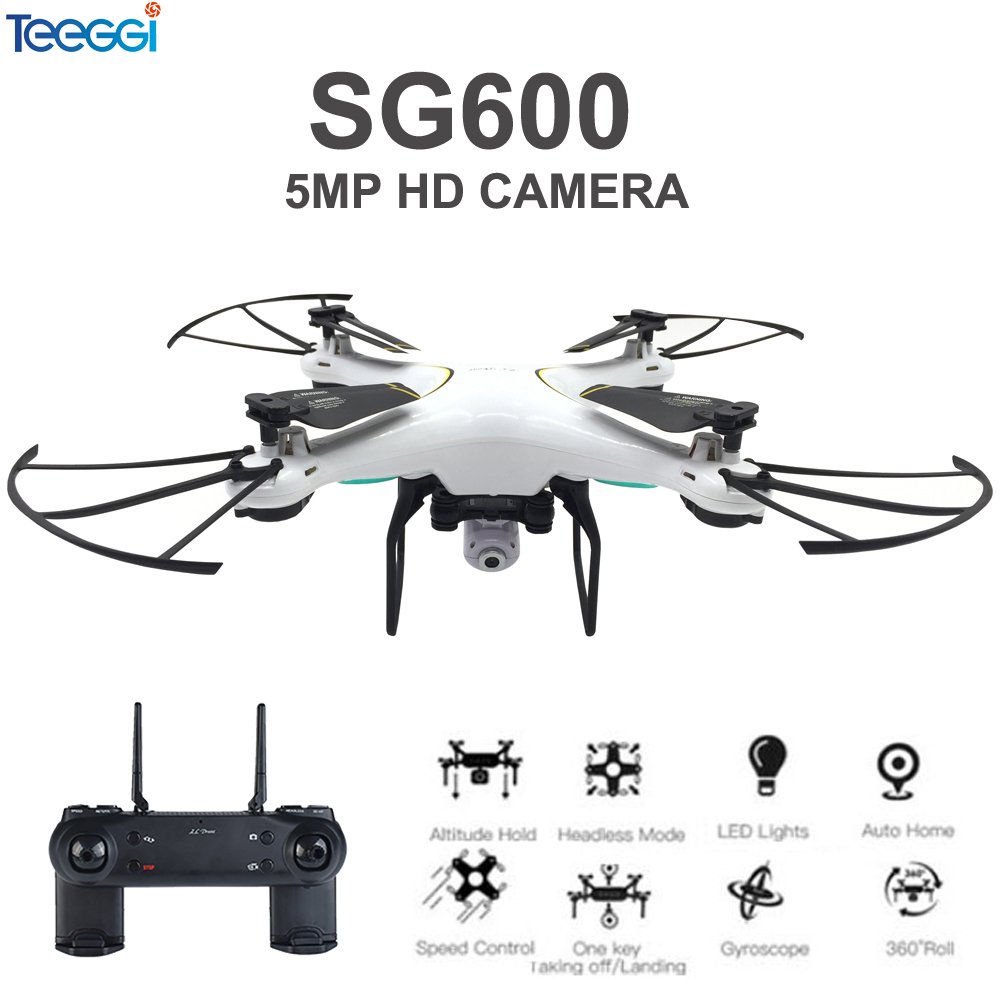 Teeggi SG600 RC Drone With 5MP 1080P HD Camera 6-Axis Foldable Blade Altitude Hold Quadcopter Helicopter VS SYMA X5C Dron