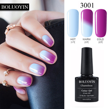 цена на Nail Art Mood Changing Color Gel Nail Polish 8ml 29 Colors Soak Off Led UV Gel Varnish Lacquer Manicure vernis Top Coat UV  Gel