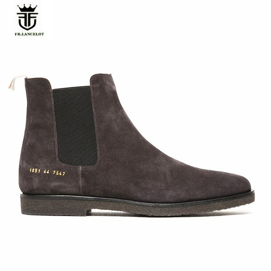 High End Customized Quality kanye west genuine leather Chelsea Men Boots Platform Mens Thick Bottom fashion live plus size boots