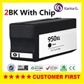2PK Compatible for HP 950 XL 951XL hp950 951 Black Ink Cartridge for Officejet Pro 8100 8600 8660 8600 8640 8620 8630 8610